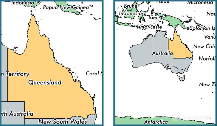 Map Australia Queensland.Where Is Queensland State Where Is Queensland Located In The
