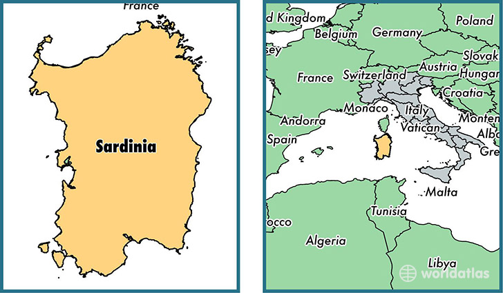 Where Is Sardinia Region Where Is Sardinia Located In The World