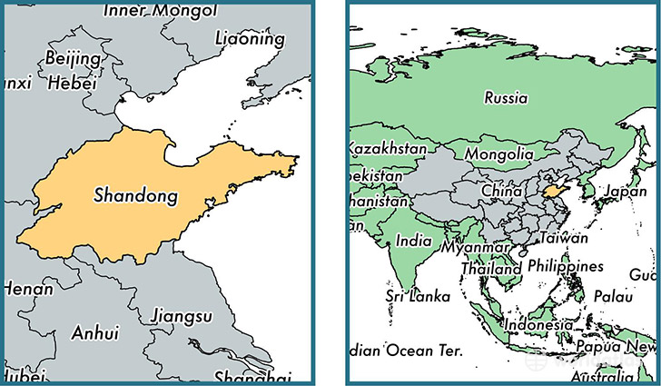 shandong province china map of shandong cn where is shandong