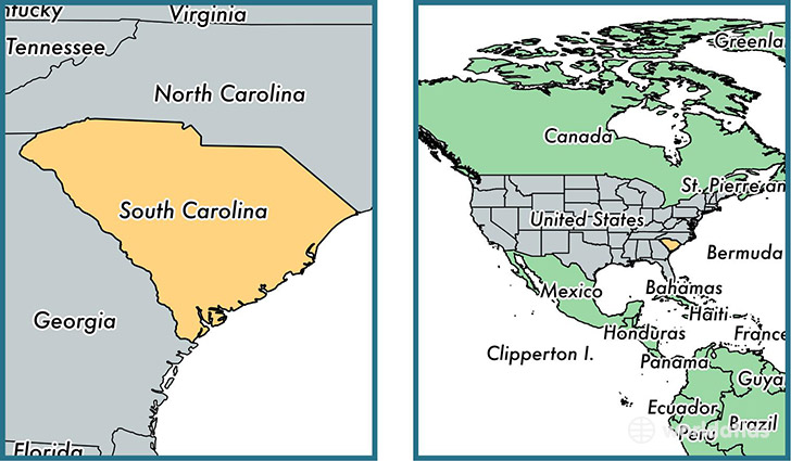 Where Is South Carolina State Where Is South Carolina Located - Us map north carolina south carolina