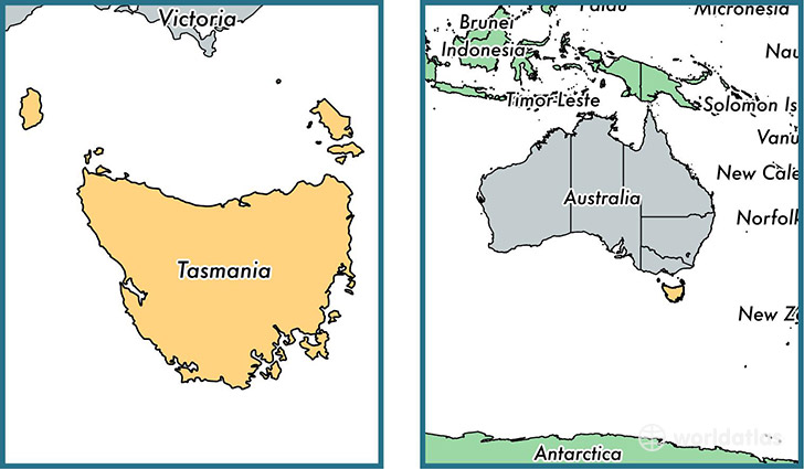 Where Is Tasmania State Where Is Tasmania Located In The World