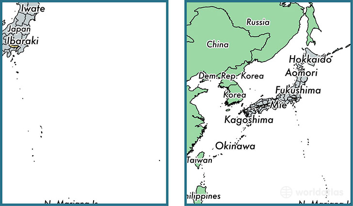 Location of prefecture of Tokyo on a map