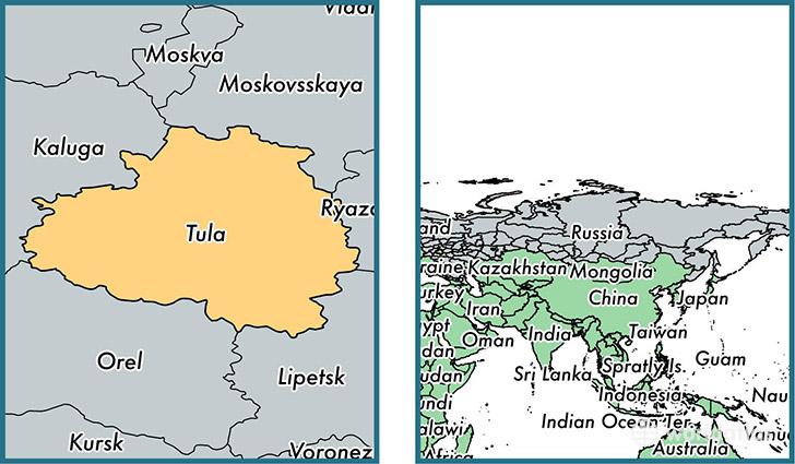 Tula Oblast administrative region Russia Map of Tula Oblast RU