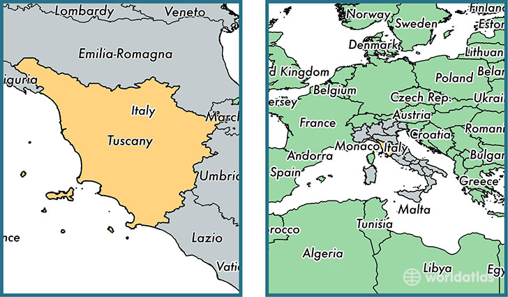 Tuscany Region Italy Map Of Tuscany IT Where Is Tuscany - Map tuscany