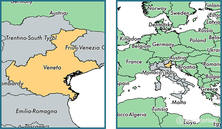 Veneto region, Italy / Map of Veneto, IT / Where is Veneto region
