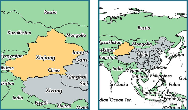 Xinjiang autonomous region china map of xinjiang cn where is location of autonomous region of xinjiang on a map gumiabroncs Images