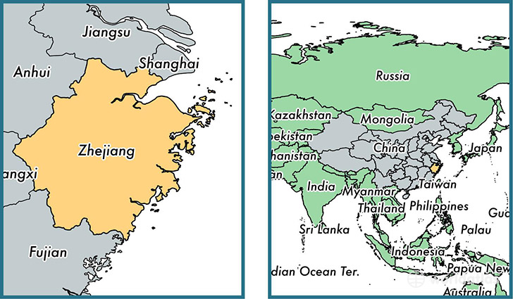Zhejiang province, China / Map of Zhejiang, CN / Where is ...