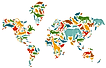 Map of a biodiverse world.