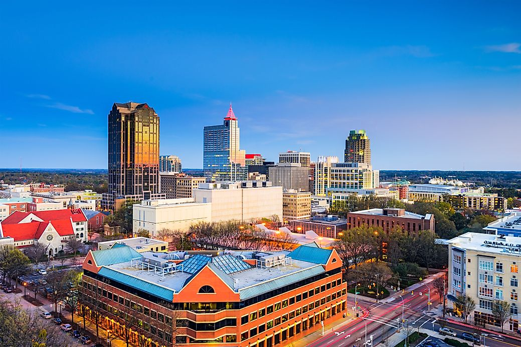 The Largest Cities in North Carolina - WorldAtlas.com