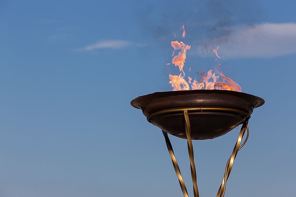 Who Lit The Olympic Flame Worldatlas