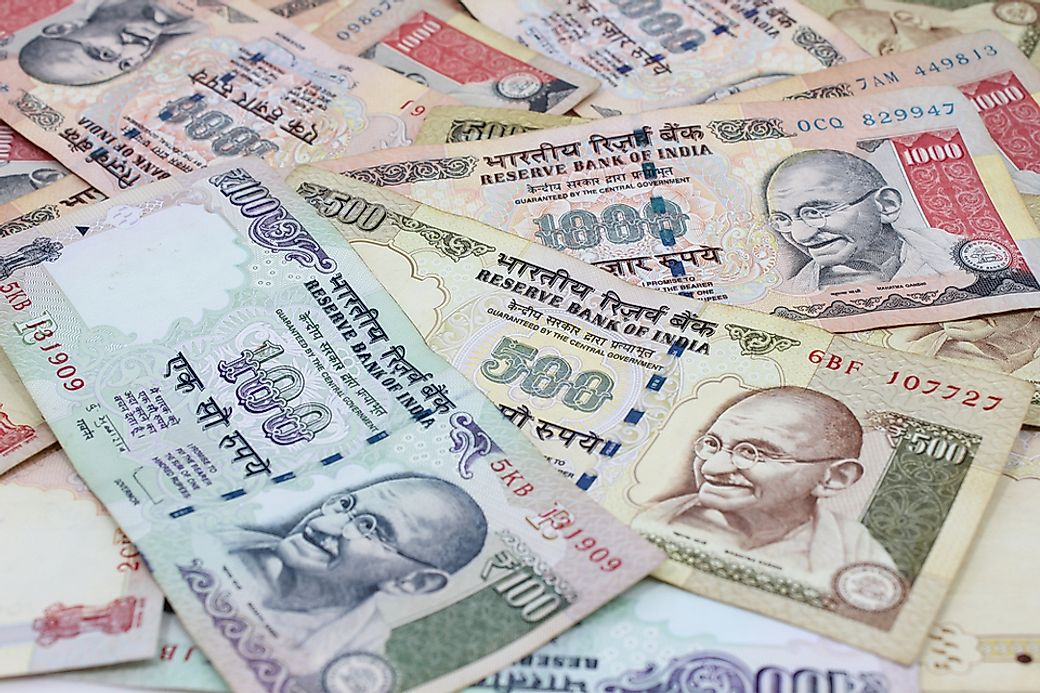 indian rupee against american dollar