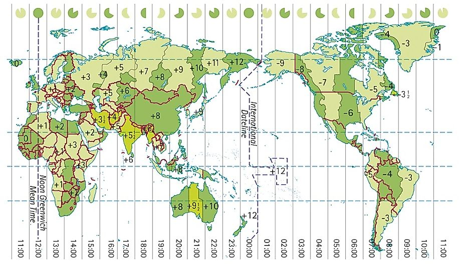 Countries With The Most Time Zones In The World WorldAtlascom - Asia time zones map