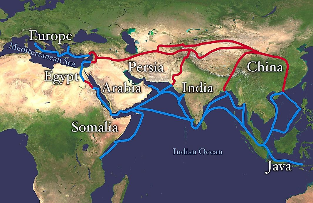 What Was The Silk Road Route WorldAtlascom