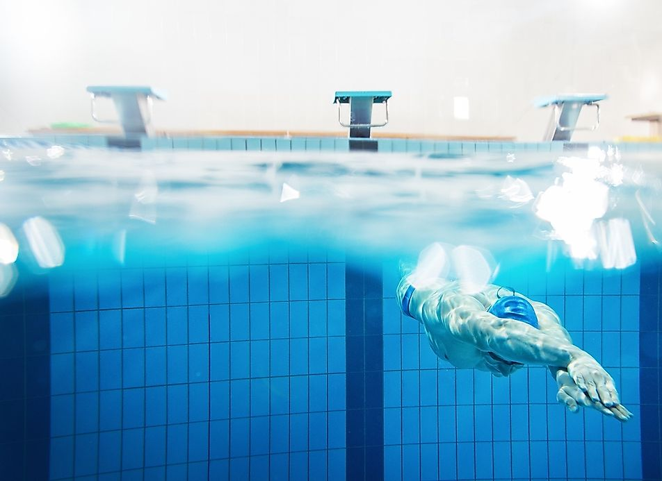 How big is an olympic size swimming pool - The volume of water in a swimming pool ...
