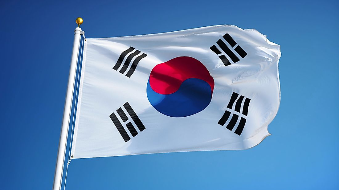 What do the colors and symbols of the flag of south korea - Picture of a korean flag ...