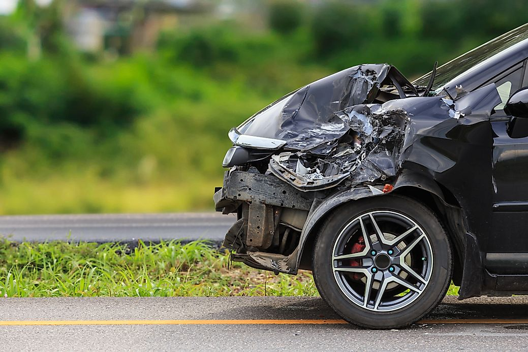 US States With the Most Car Accidents - WorldAtlas com