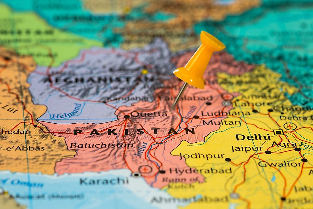 Which Countries Border Pakistan WorldAtlascom