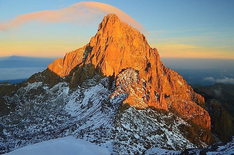 Highest Mountains In Kenya - WorldAtlas.com