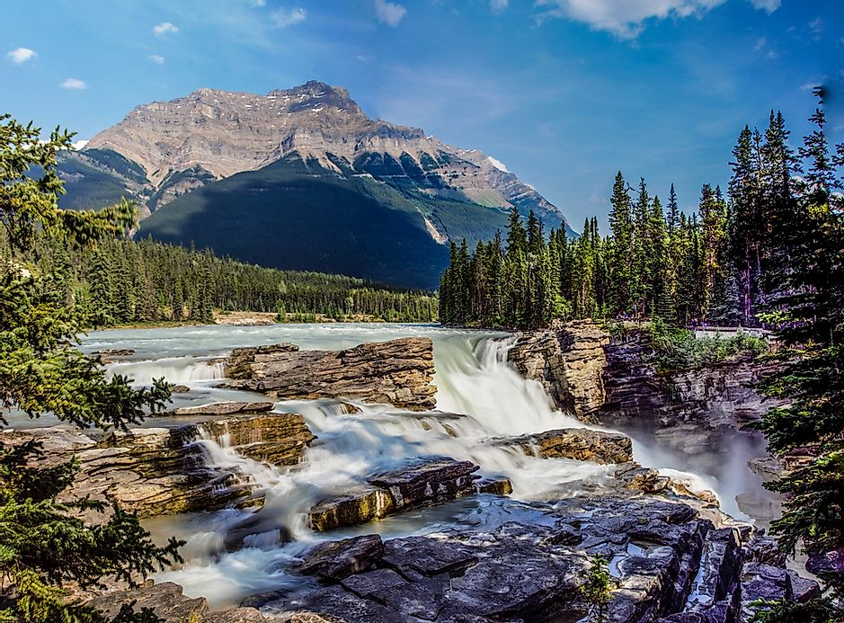 Athabasca Falls Canada Unique Places Around The World