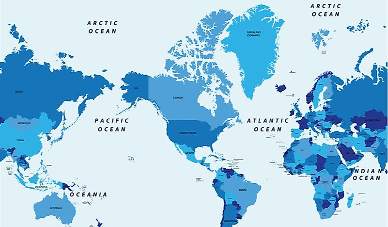 Arctic Ocean On World Map How Many Oceans Are There?   WorldAtlas.com