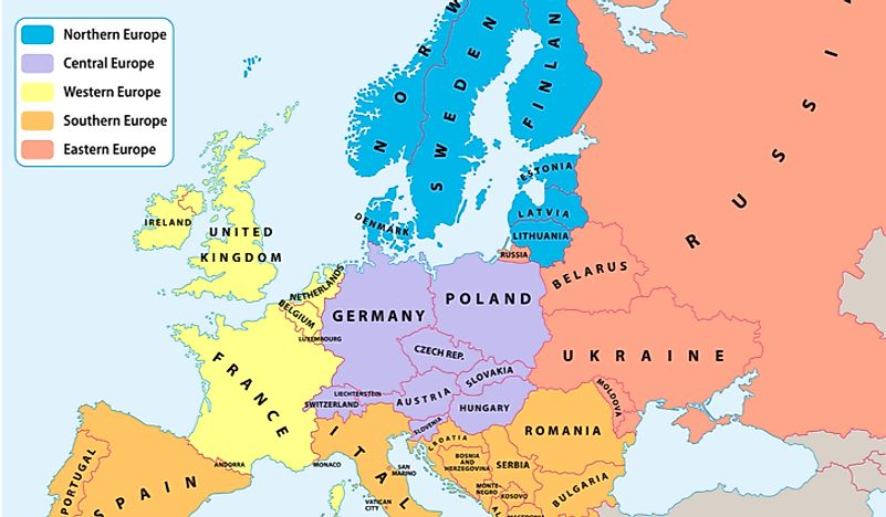 Map Of England France And Germany.Which Continent Is England In Worldatlas Com