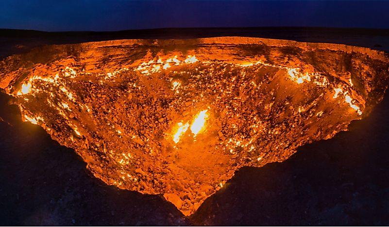 The Darvaza Gas Crater: the Door to Hell
