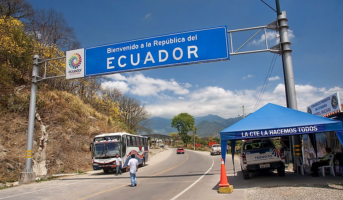Which Countries Border Ecuador?