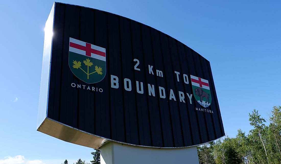 Which Provinces Border Manitoba?