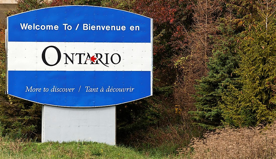 Which Provinces Border Ontario?