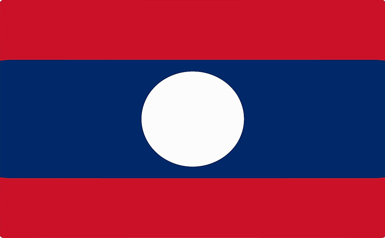 What Do The Colors And Symbols Of The Flag Of Laos Mean?