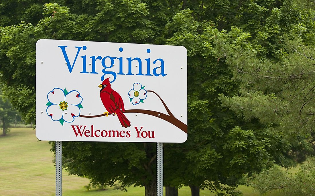 Which States Border Virginia?