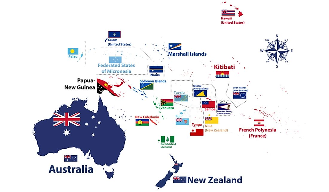 How Many Countries Are in Oceania? - WorldAtlas.com