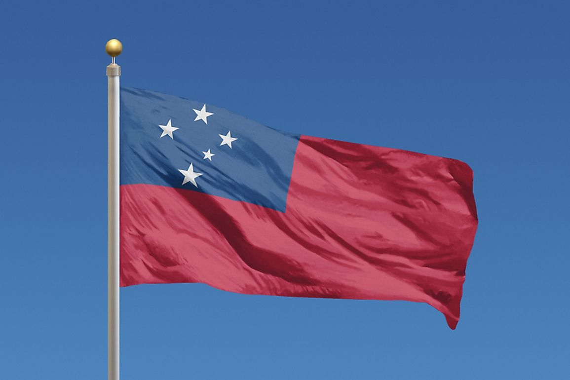 What Do The Colors And Symbols Of The Flag Of Samoa Mean?