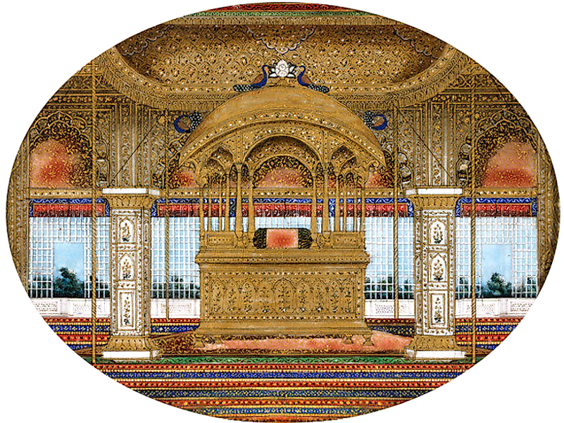 What is the Peacock Throne of the Mughal Empire?