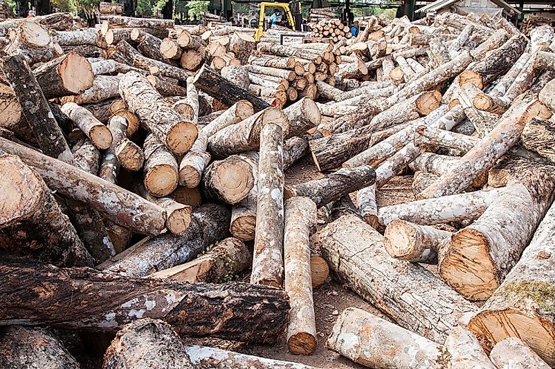 Countries Exporting The Highest Volumes Of Tropical Logs