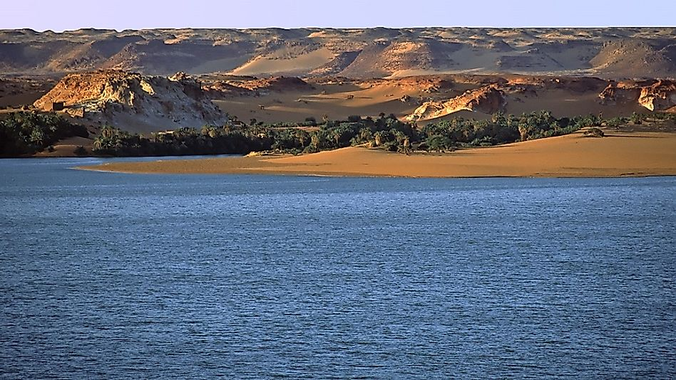 Ounianga Lakes Of The Sahara In Chad