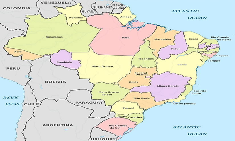 States Of Brazil By Area