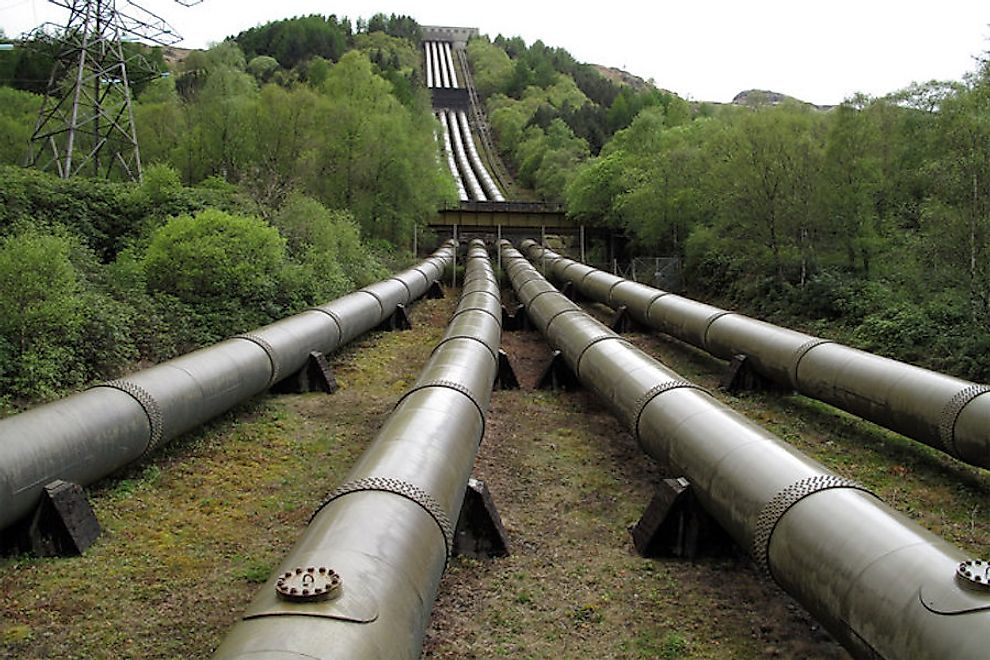 Top 20 Countries By Length Of Pipeline