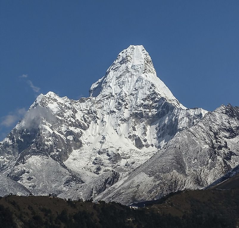 From Where Does Mount Everest Rise?