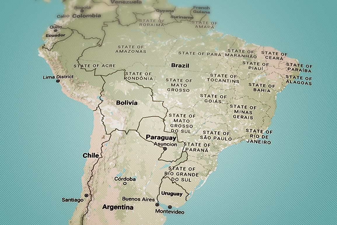 How Many Countries In South America Are Landlocked?