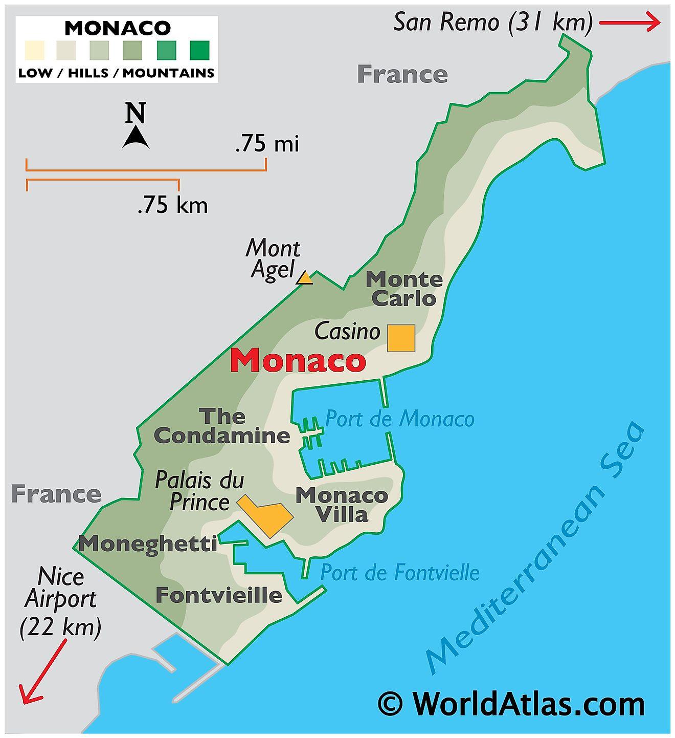 Monaco Maps & Facts