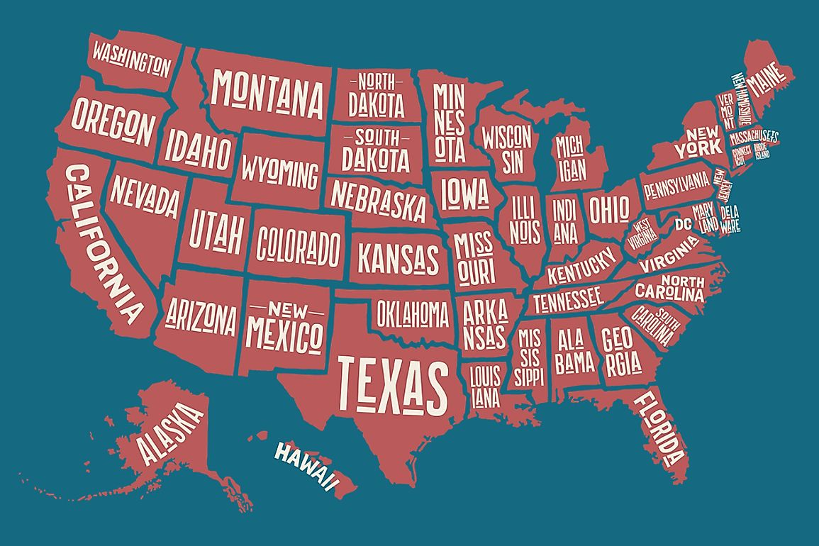 The Singly Landlocked States Of The United States
