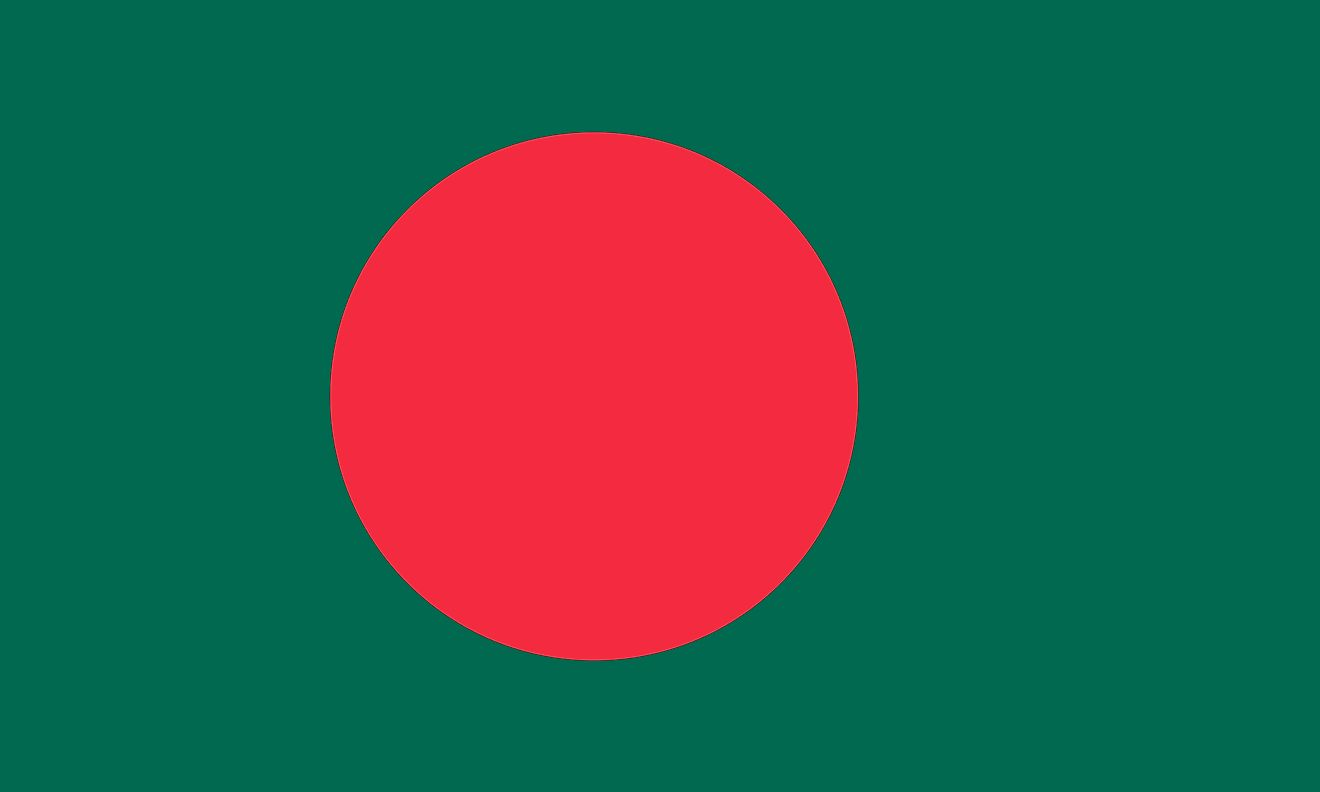 The National Flag of Bangladesh (The Red & Green)