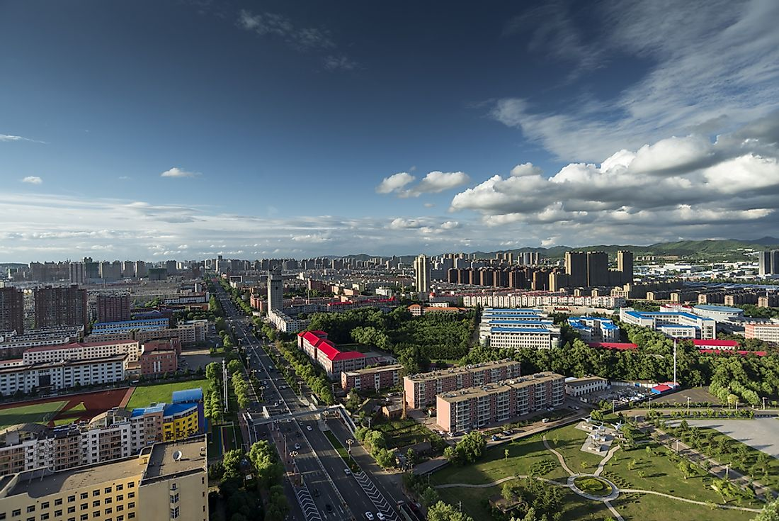 Jilin, China, where the explosions happened.