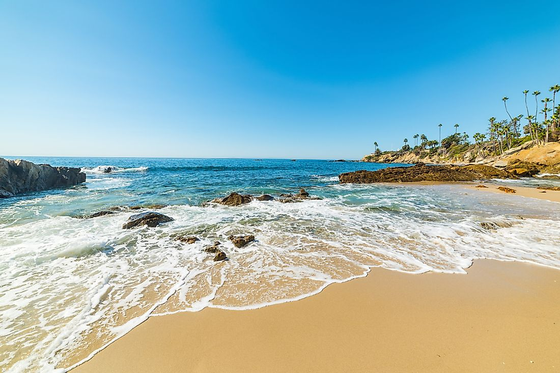 California is world-famous for its beaches.