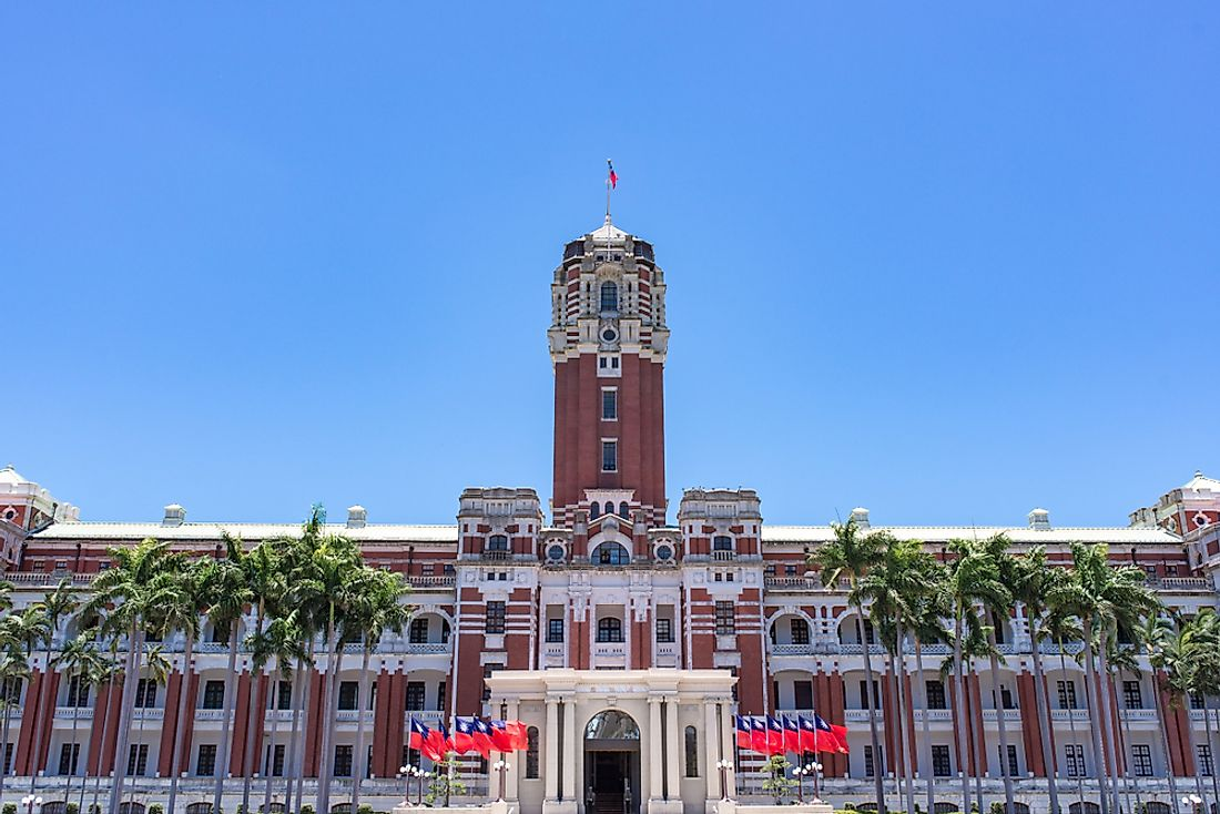 The Presidential Office Building in Taiwan.
