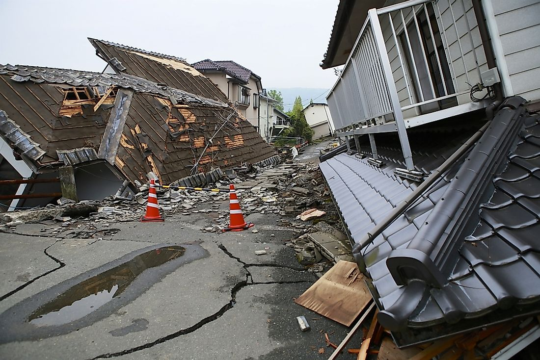 Earthquakes can cause extensive property damage.