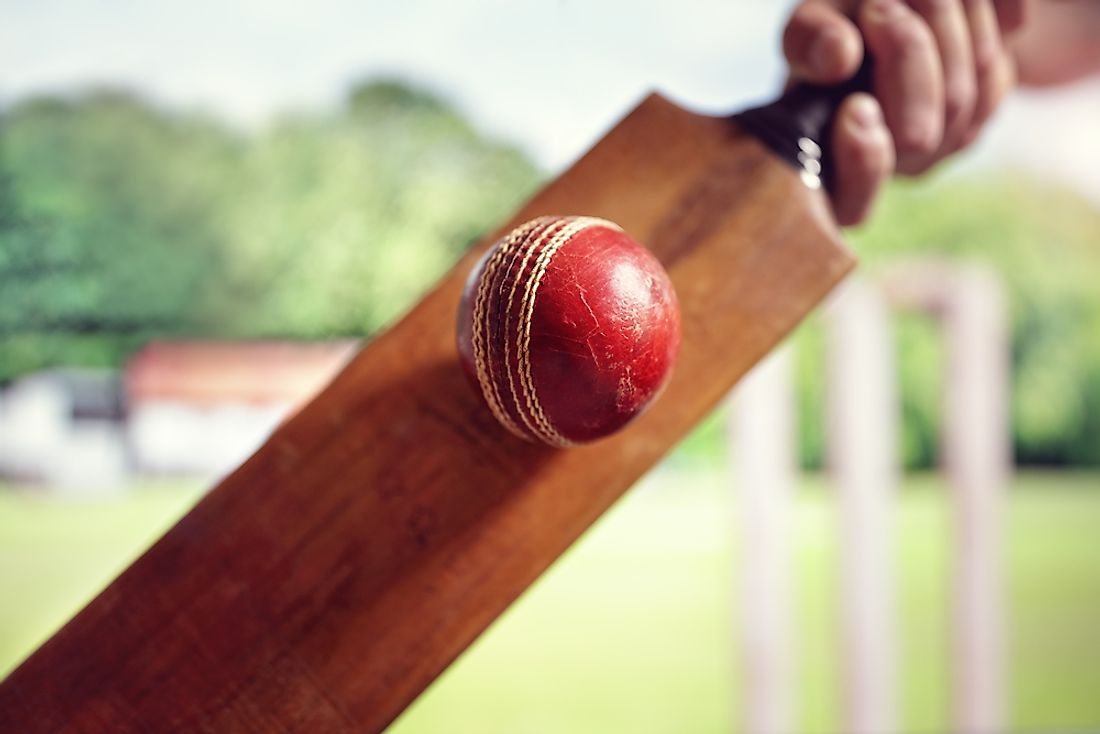 Popularized in England in the 18th century, cricket is now played around the world.