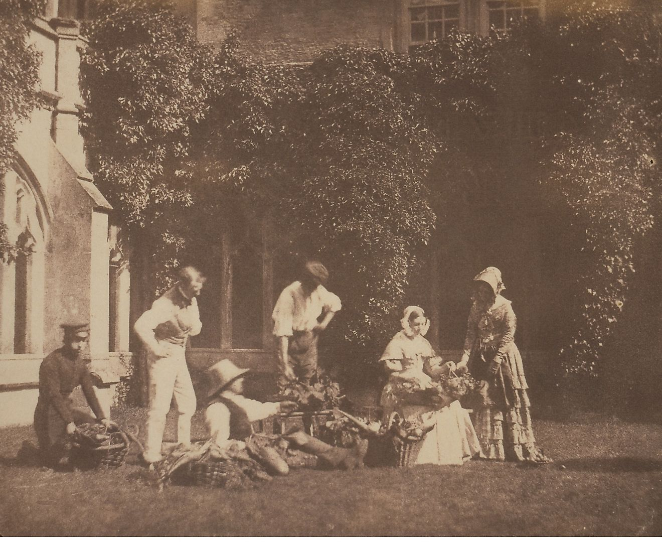 An 1844 photograph taken by William Henry Fox Talbot.