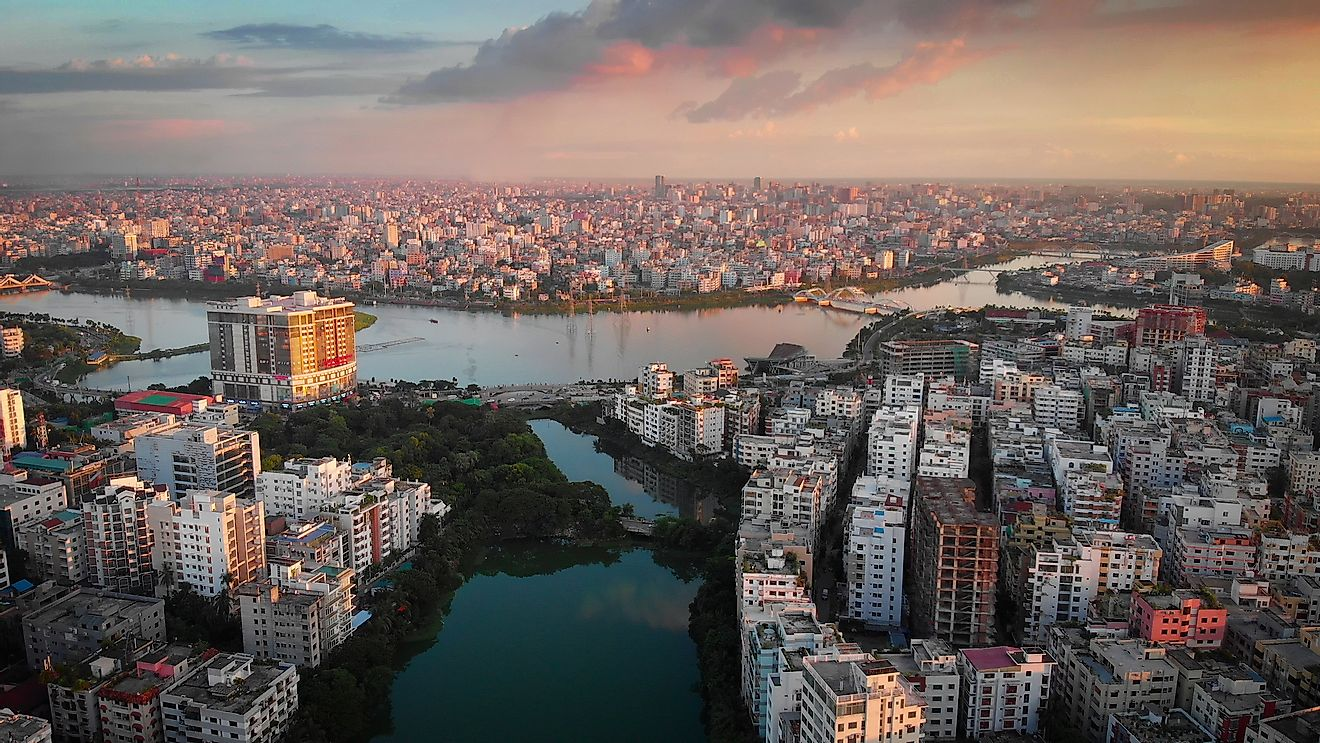 Dhaka, the capital of Bangladesh is a heavily populated city with high population density.